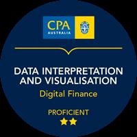 Data Interpretation and Visualisation Micro-credentials badge