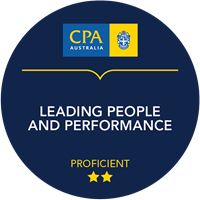 Leading People and Performance Micro-credential badge